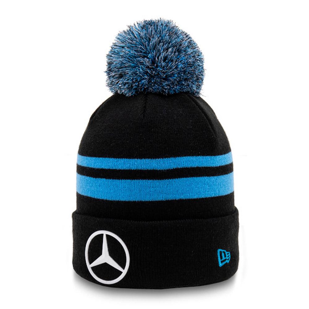 Berretto di maglia con pompon Mercedes-Benz Formula E nero