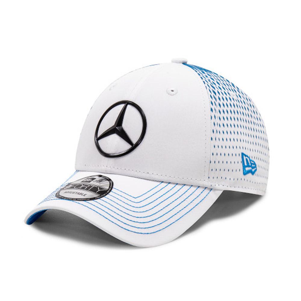 Cappellino 9FORTY Mercedes-Benz Formula E Stoffel Vandoorne bianco