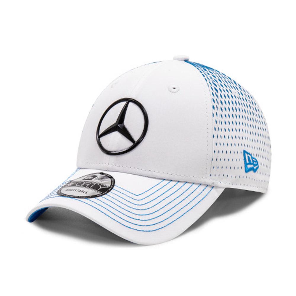 Cappellino 9FORTY Mercedes-Benz Formula E Nyck de Vries bianco