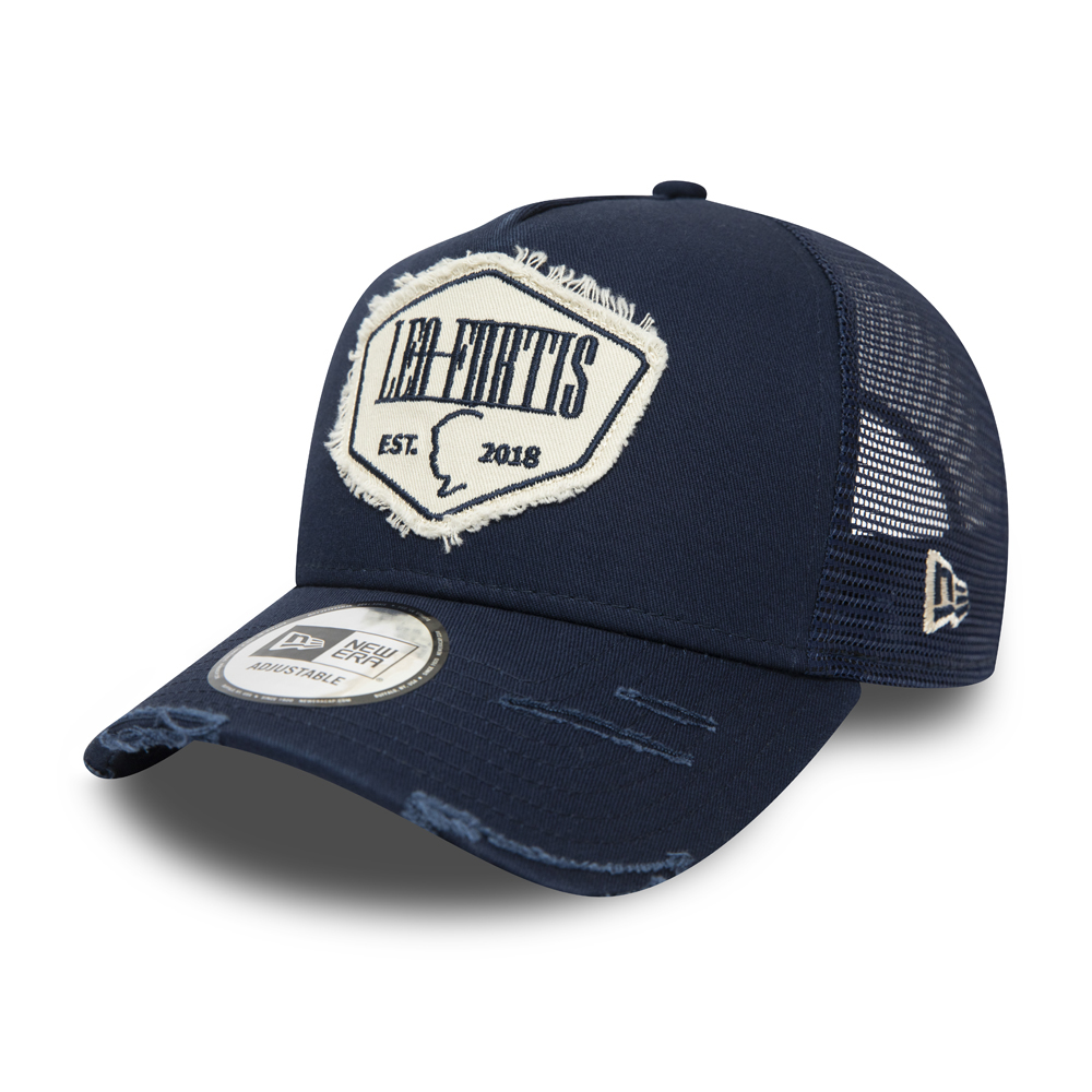 Leo Fortis Navy A-Frame Patch Trucker