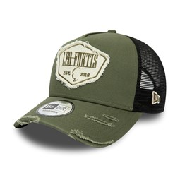 Leo Fortis Green A-Frame Patch Trucker