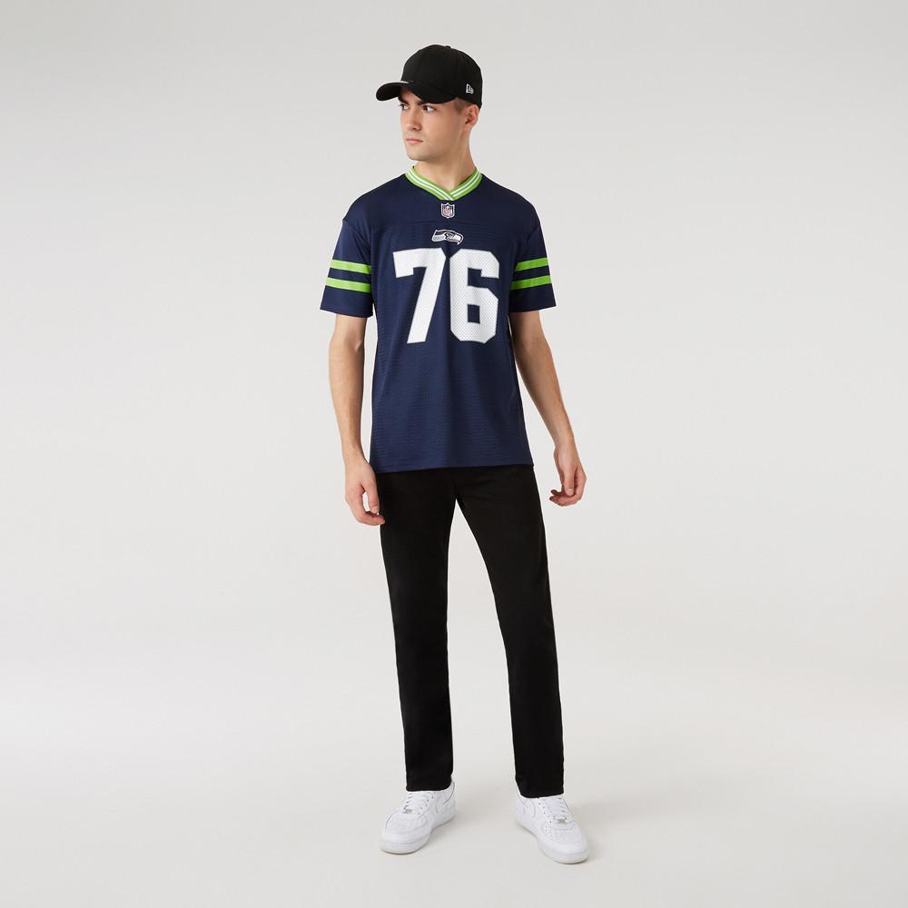 Maglia in jersey oversize dei Seattle Seahawks blu