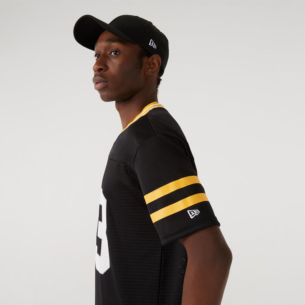 Maglia in jersey oversize dei Pittsburgh Steelers nera