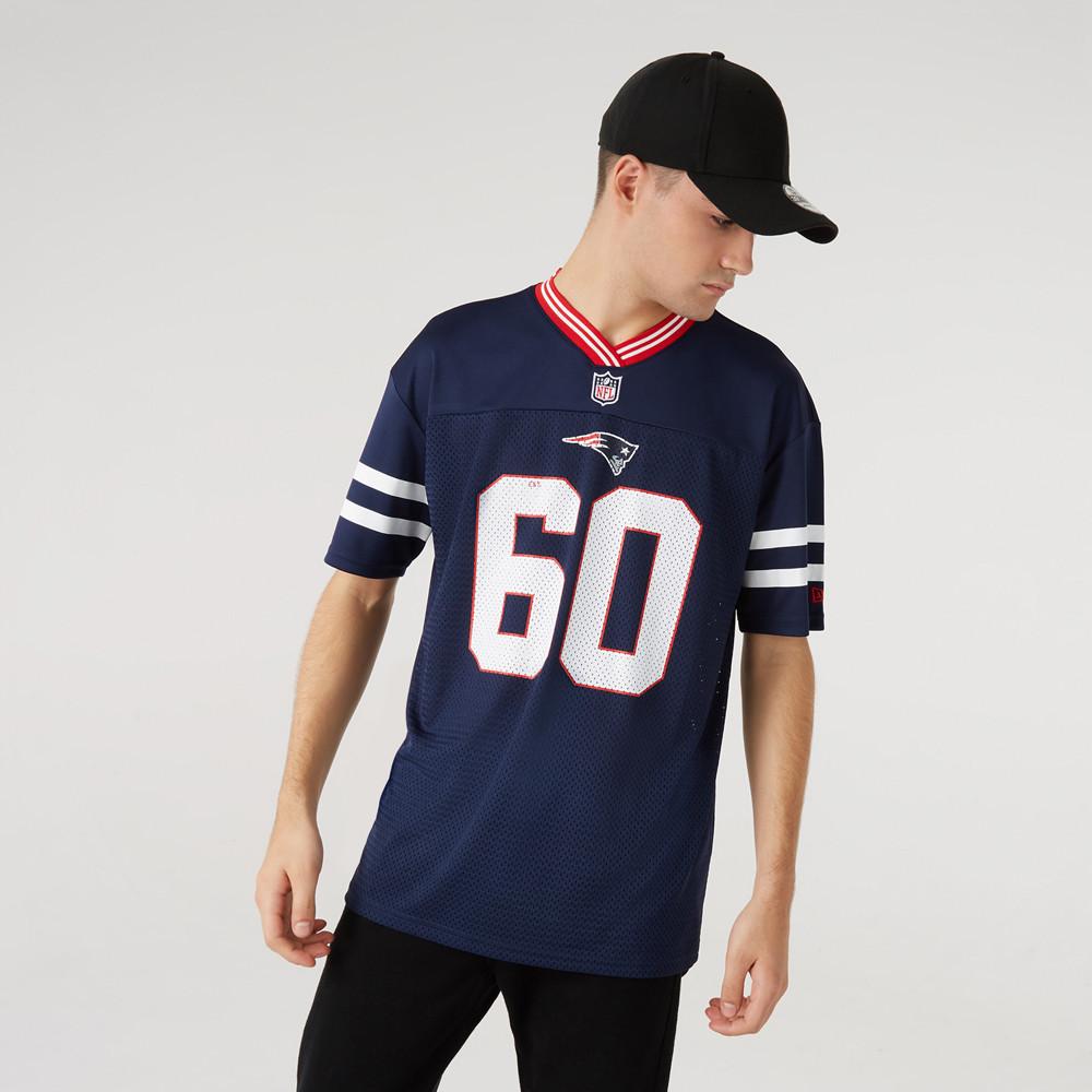 Maglia in jersey oversize dei New England Patriots blu