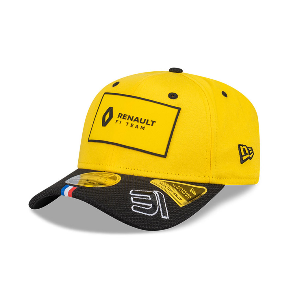 Gorra Renault 31 Esteban Ocon Stretch Snap 9FIFTY, amarillo
