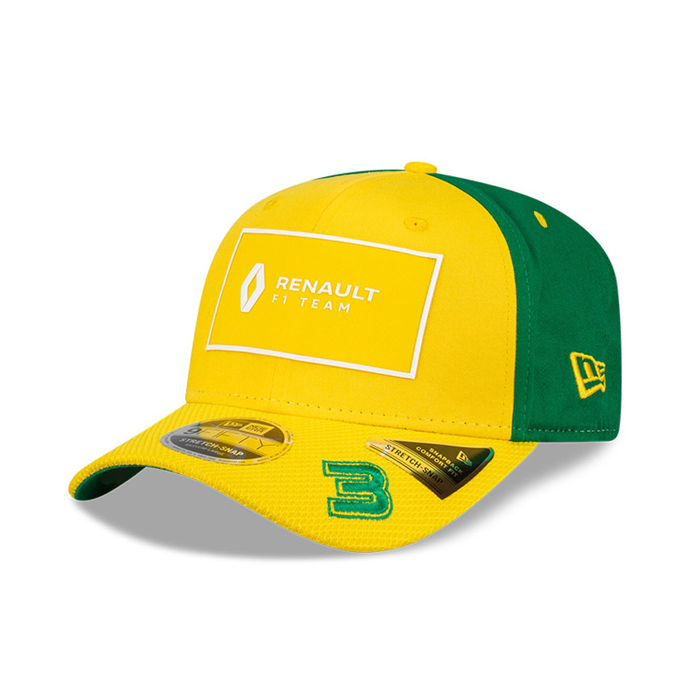 Gorra Renault 3 Daniel Ricciardo Stretch Snap 9FIFTY, amarillo