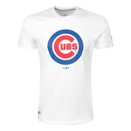 Chicago Cubs Team Logo White T-Shirt