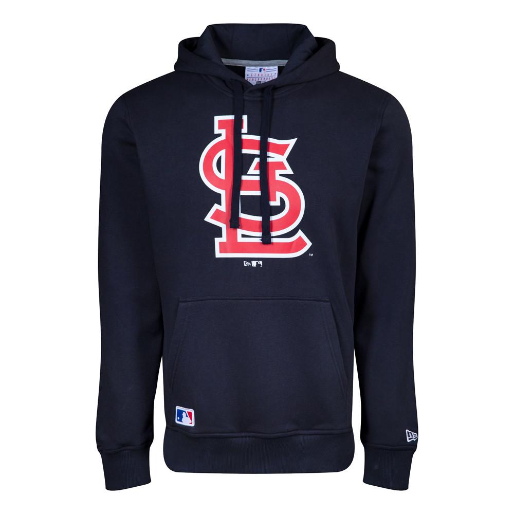 Felpa con cappuccio e logo della squadra dei St. Louis Cardinals blu navy