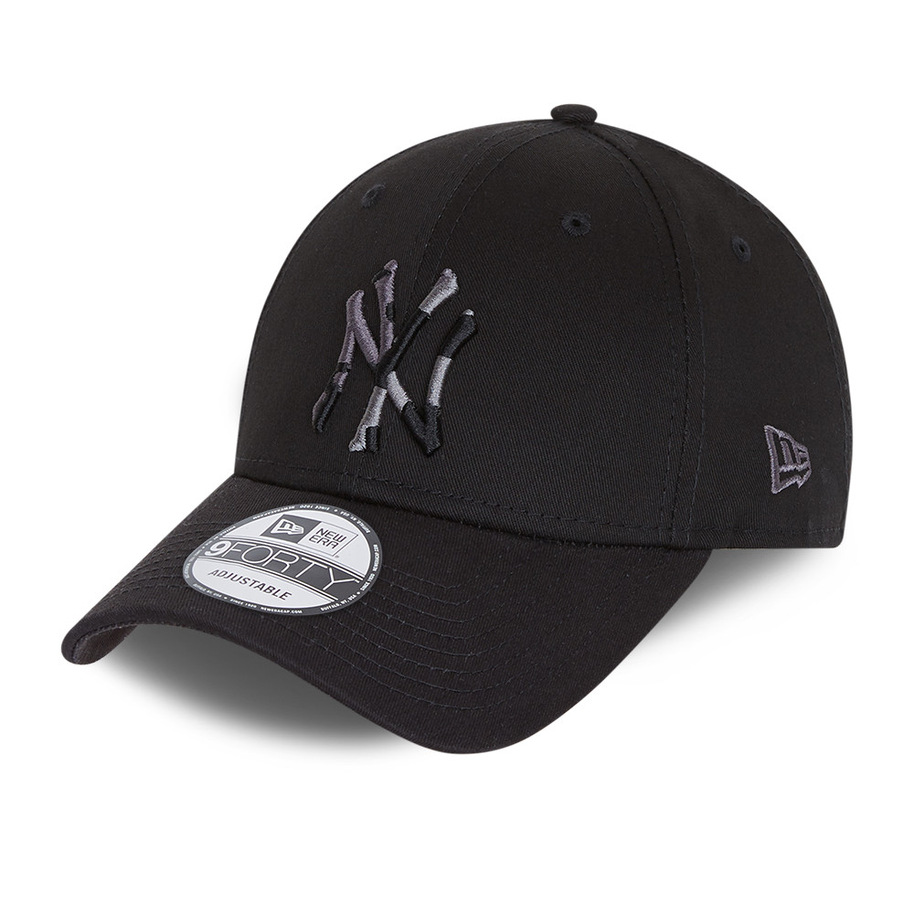 Casquette 9FORTY City Camo des New York Yankees, noir, enfant