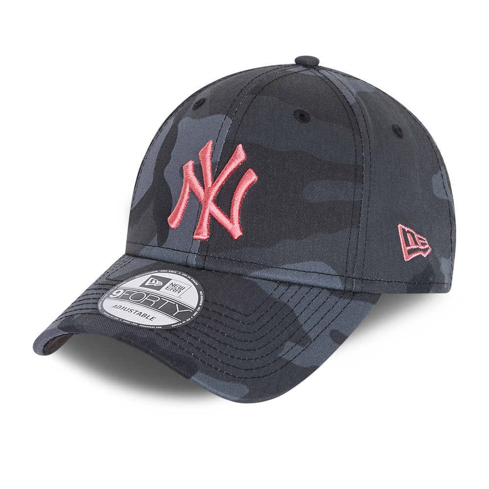 New York Yankees All Over Print Camo Youth Grey 9FORTY Cap