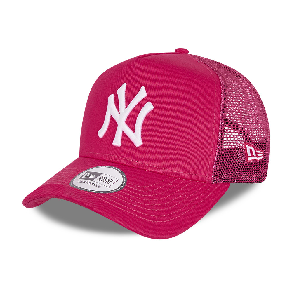 New York Yankees Tonal Mesh Kids Pink A-Frame Trucker Cap