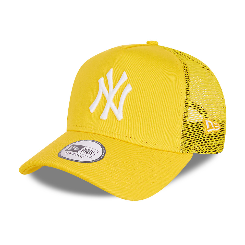 New York Yankees Tonal Mesh Kids Yellow A-Frame Trucker Cap