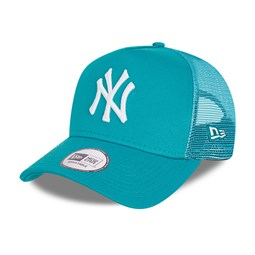 New York Yankees Tonal Mesh Youth Turquoise A-Frame Trucker Cap