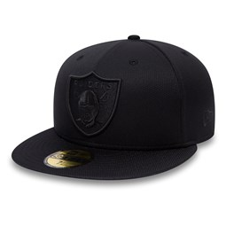 Oakland Raiders Ballistic Black on Black 59FIFTY