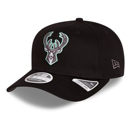 Milwaukee Bucks Neon Pop Black 9FIFTY Stretch Snap Cap