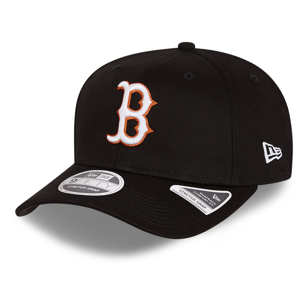 Casquette 9FIFTY Boston Red Sox stretch, noir fluo