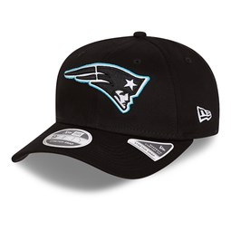 New England Patriots Neon Pop Black 9FIFTY Stretch Snap Cap