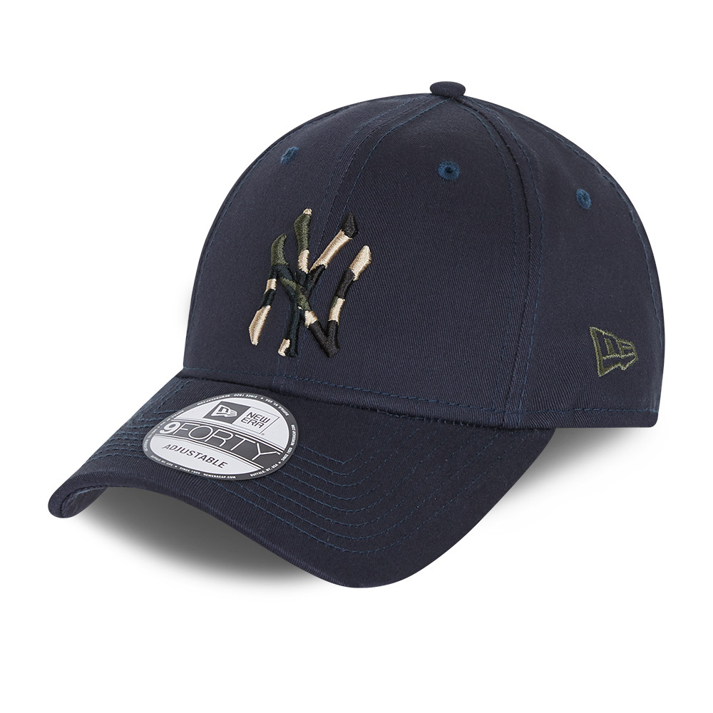 Casquette 9FORTY City Camo des New York Yankees, bleu marine