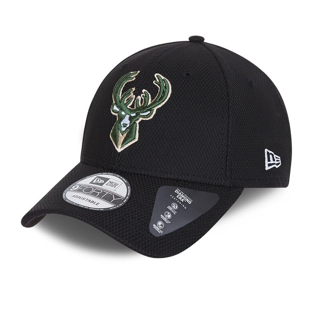 Casquette 9FORTY Diamond Era des Milwaukee Bucks, noir