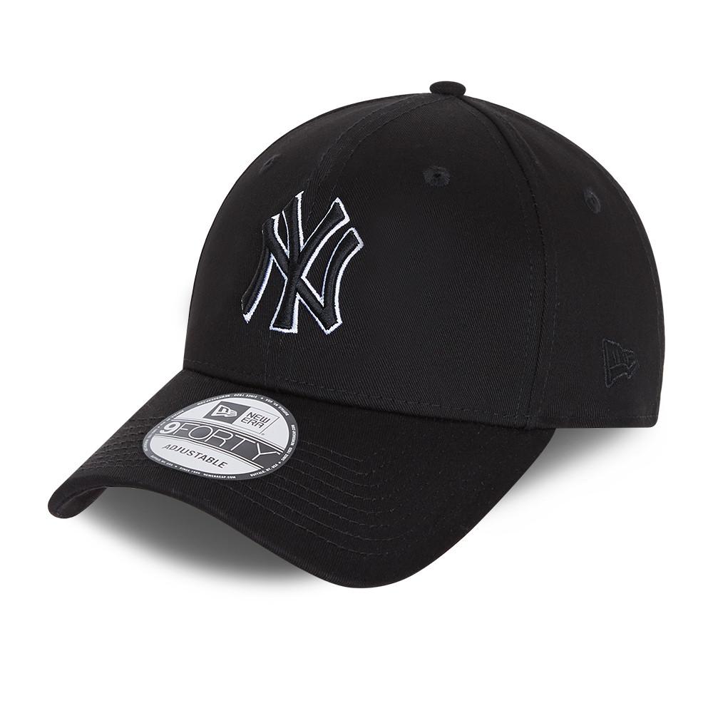 Gorra snapback New York Yankees Black Base 9FORTY, negro
