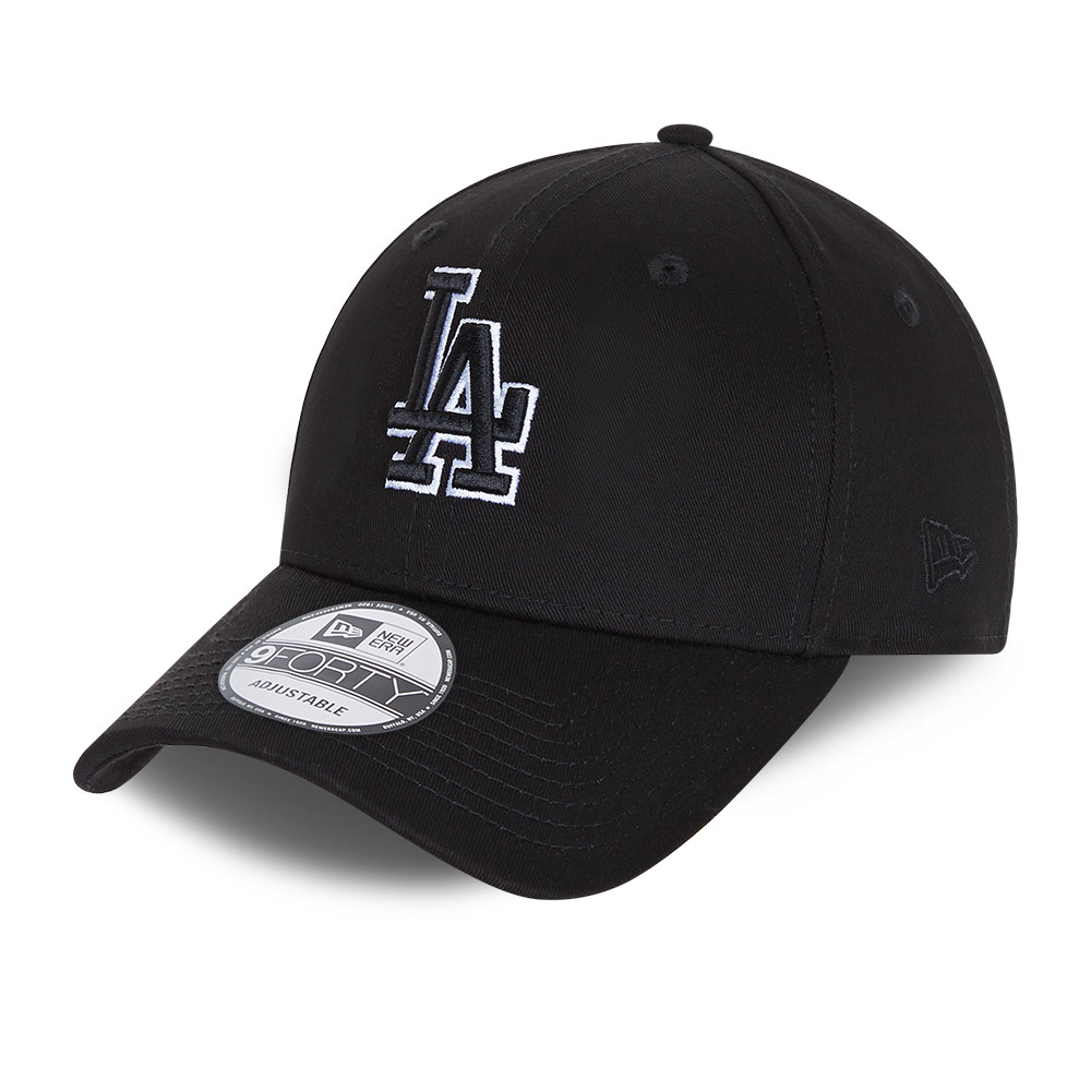 LA Dodgers Black Base 9FORTY Snapback Cap