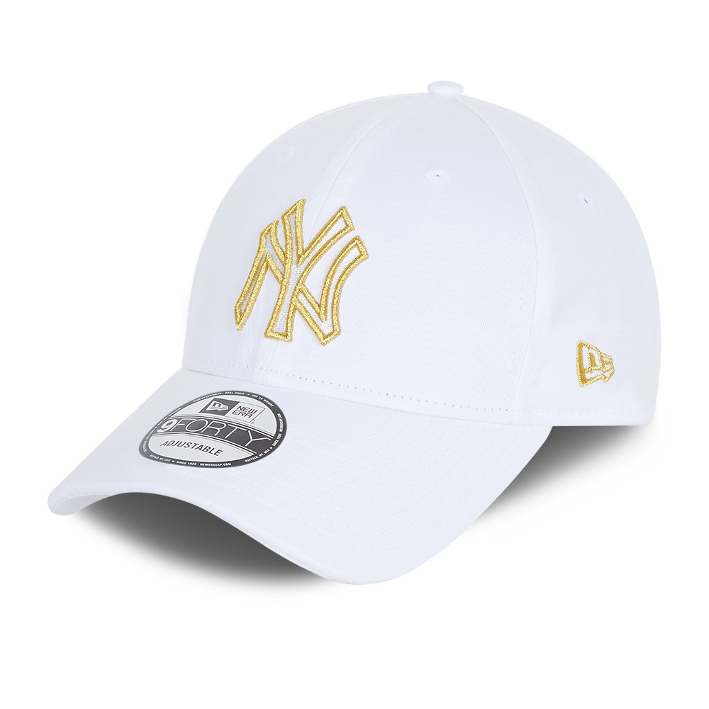 9FORTY – New York Yankees – Metallic Logo – Kappe in Weiß