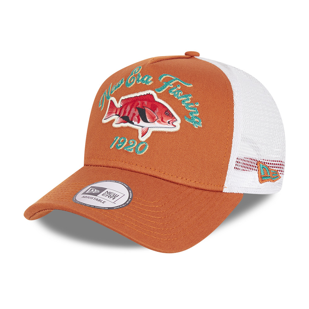Cappellino Trucker A-Frame New Era Fishing marrone