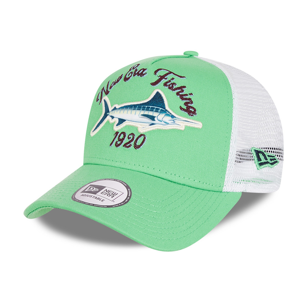 Cappellino Trucker A-Frame New Era Fishing verde