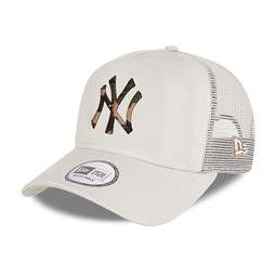 New York Yankees City Camo Stone A-Frame Trucker Cap