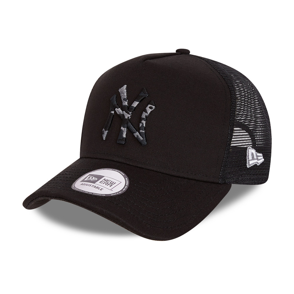 Casquette Trucker City Camo A-Frame des New York Yankees, noir