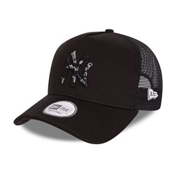New York Yankees City Camo Black A-Frame Trucker Cap