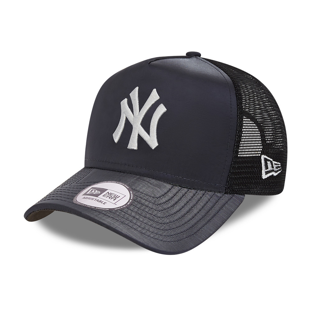 New York Yankees Hypertone Black A-Frame Trucker Cap