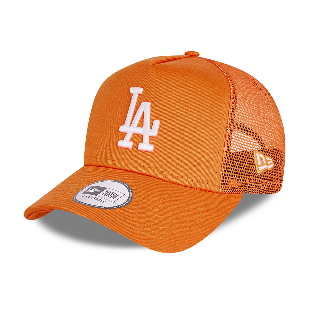 LA Dodgers Tonal Mesh Orange A-Frame Trucker Cap