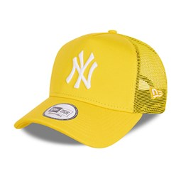 New York Yankees Tonal Mesh Yellow A-Frame Trucker Cap