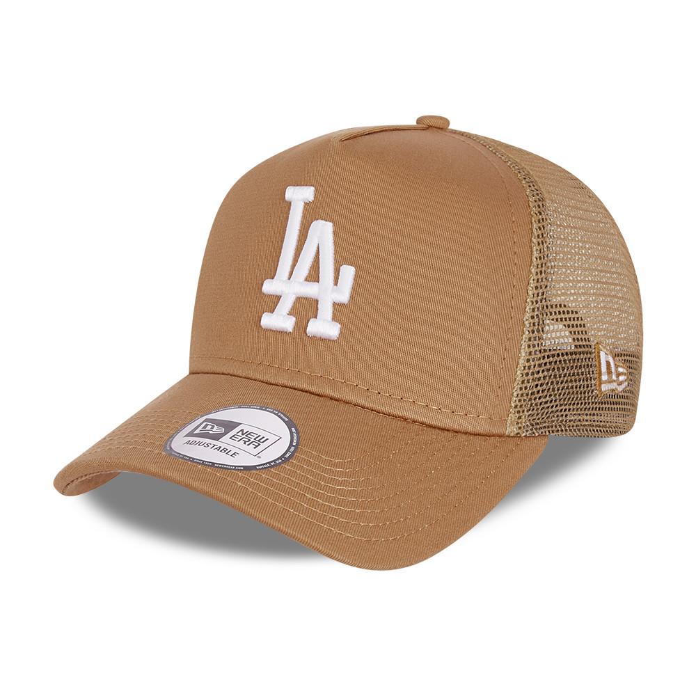 LA Dodgers – Ton-in-Ton A-Frame-Truckerkappe aus Mesh in Braun
