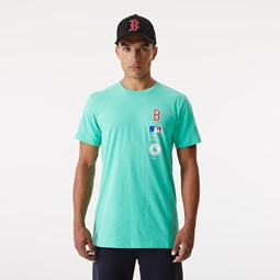T-shirt  Stack Logo des Boston Red Sox turquoise