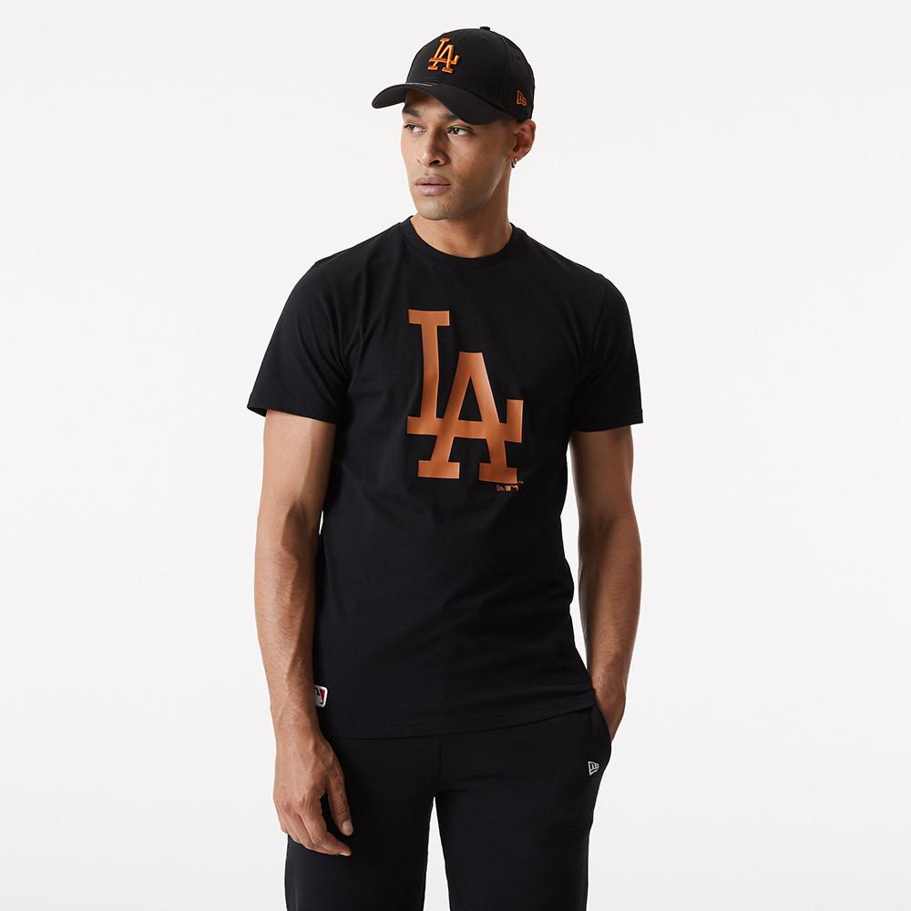 LA Dodgers – T-Shirt in Schwarz mit Teamlogo
