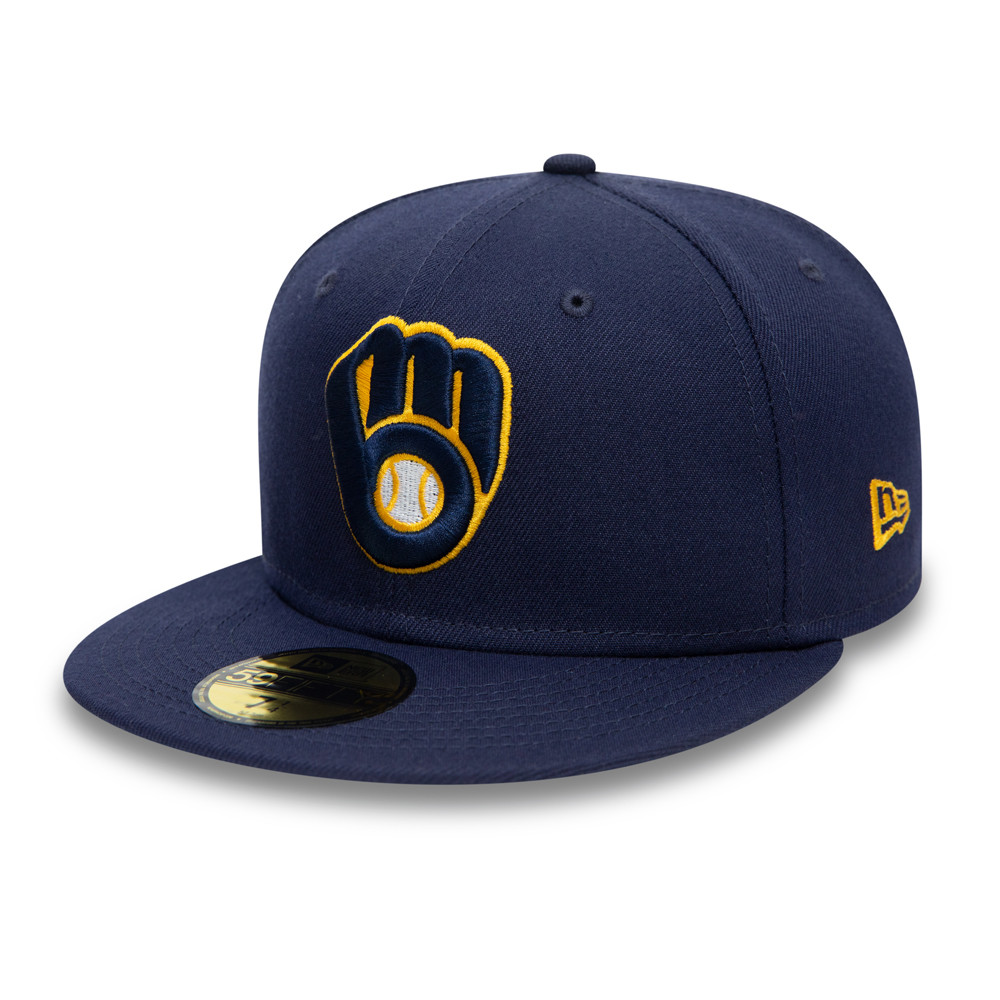 Casquette 59FIFTY Authentic On Field des Brewers de Milwaukee, bleu marine