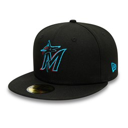 Miami Marlins Authentic On Field Game Black 59FIFTY Cap