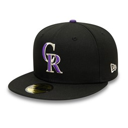 Colorado Rockies Authentic On Field Black 59FIFTY Cap