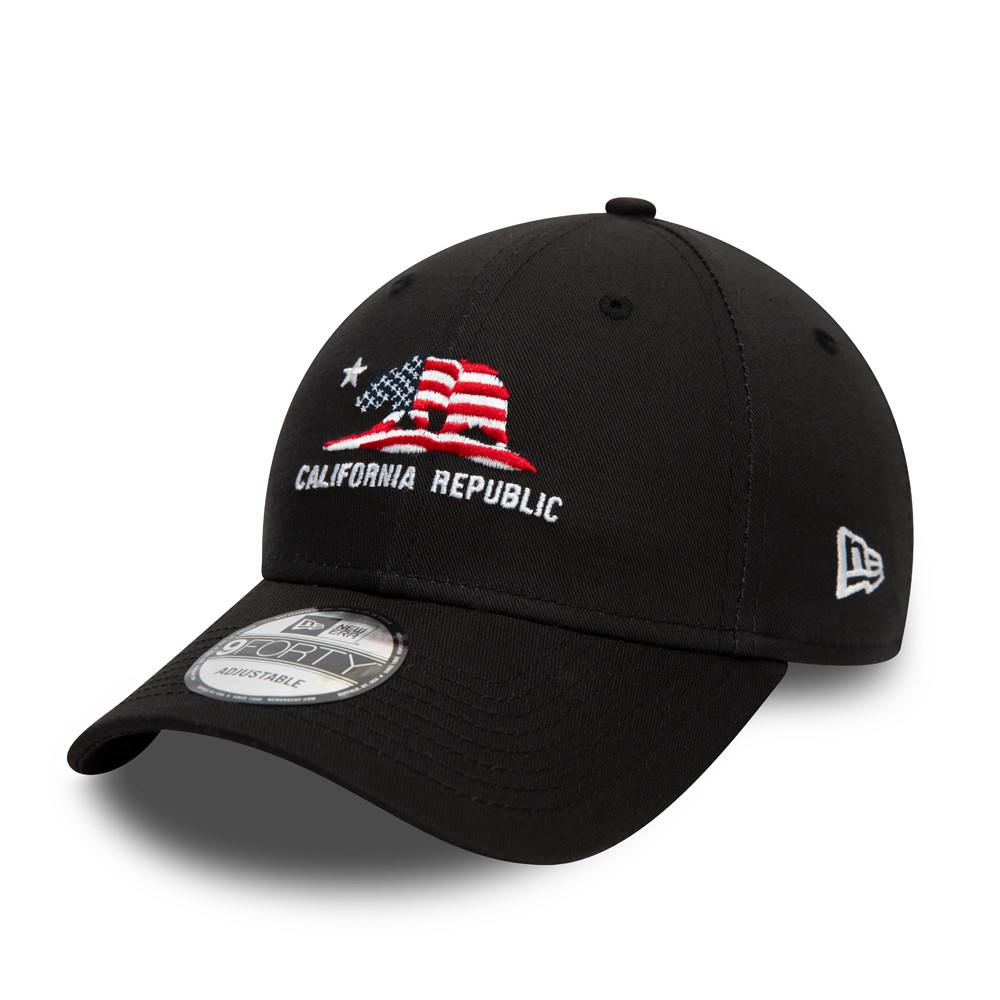California Republic Black 9FORTY Cap