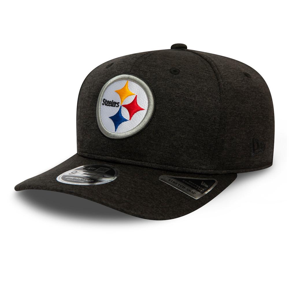 Casquette extensible avec languette de réglage9FIFTY Shadow Tech des Pittsburgh Steelers, noire
