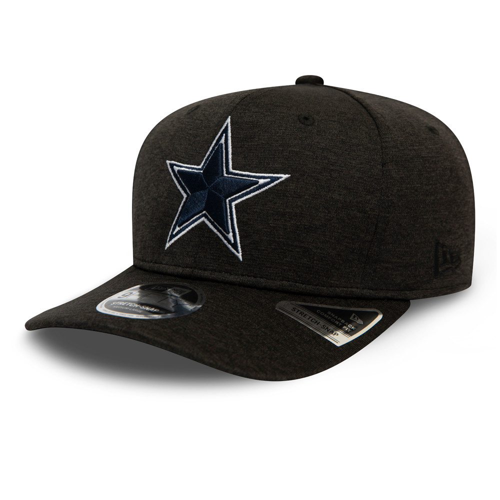 9FIFTY – Dallas Cowboys – Shadow Tech – Stretch-Snap-Kappe in Schwarz