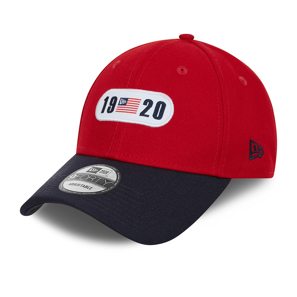 New Era Tricolour Red 9FORTY Cap