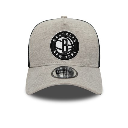 Brooklyn Nets Jersey Essential Grey A-Frame Trucker Cap