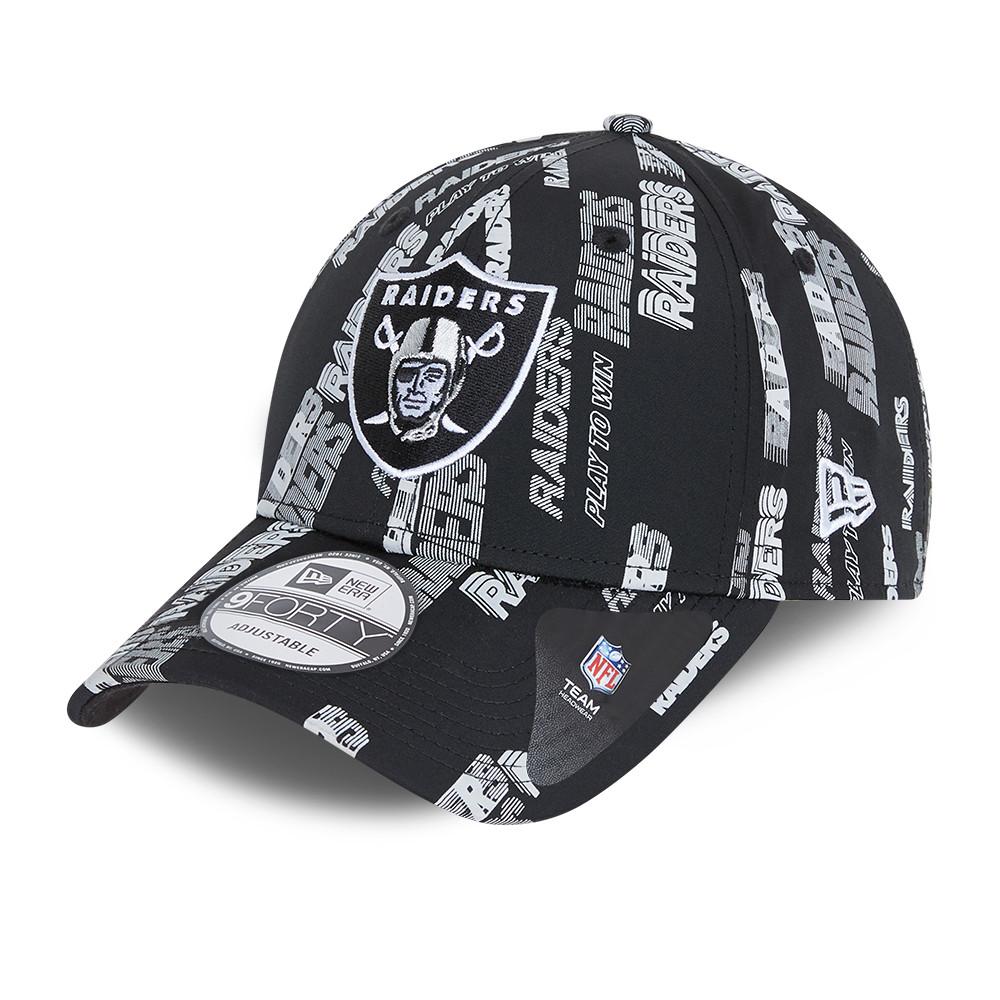 9FORTY – Las Vegas Raiders – Kappe mit Schriftzug in Schwarz