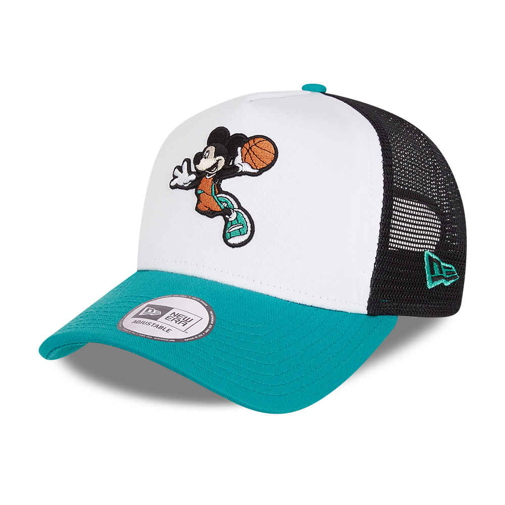 Micky Mouse Disney Character Sports White A-Frame Trucker Cap