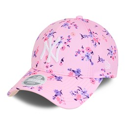 New York Yankees Floral Pink Womens 9FORTY Cap