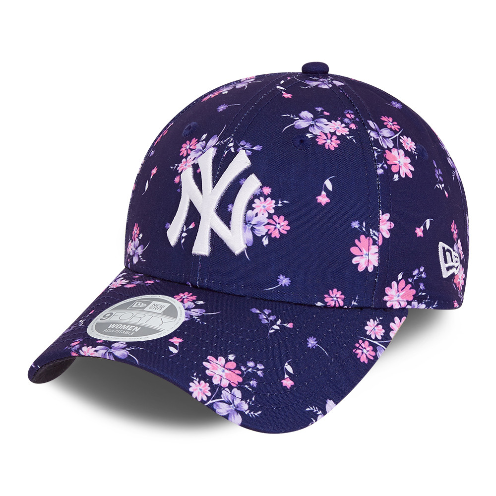 New York Yankees Floral Blue Womens 9FORTY Cap