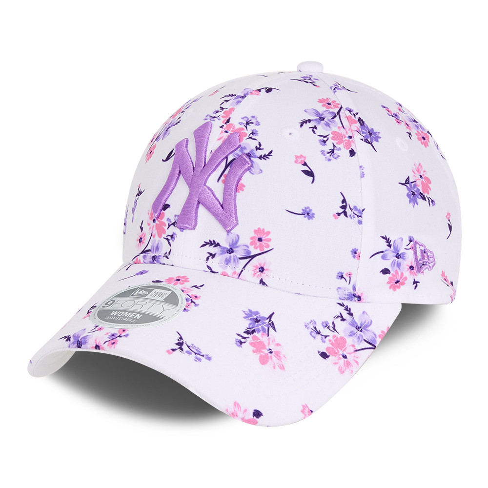 New York Yankees Floral White Womens 9FORTY Cap